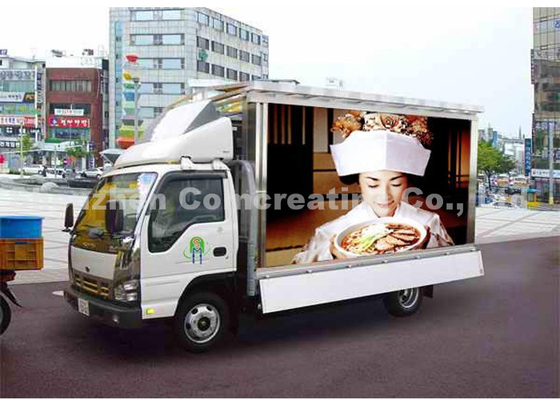 Programmable truck mounted LED screen / outdoor LED advertising display for commercial