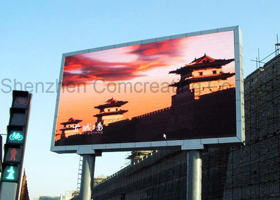 P4 Smd Full Color Outdoor Advertising Led Display High Definition Rgb 1/8 Scan 1R1G1B